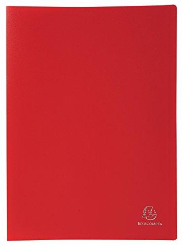 Exacompta - Réf. 8535E - 1 Protège-documents en polypropylène souple OPAK 60 vues / 30 pochettes grainées - A4 - Rouge