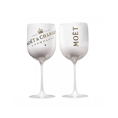 Moët & Chandon Ice Imperial Champagne - Juego de 2 vasos de cristal acrílico (480 ml), color blanco