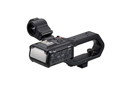Panasonic VW-HU1E-K Camcorder Handgriff (Zwei XLR Anschlüsse, LED Videoleuchte, einfache Handhabung)