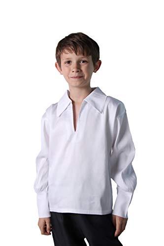 Making Believe Boys Basic Renaissance Shirt, White (Boys Small 6/8, White)