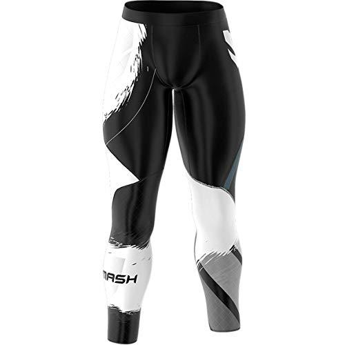 SMMASH Classic Herren Sport Leggings Lange, Thermo Laufhose, Atmungsaktiv und Leicht Fitness Strumpfhosen, Sporthose Crossfit, Gym, Jogginghose, Thermohose, Hergestellt in der EU (XL)