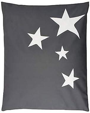 Pouf - Poire Pouf XXL Stars Tissu Impermeable - Gris Clair - 100x120 cm