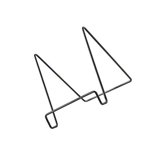 litulituhallo Soporte de marco de hierro duradero para tableta, soporte para tableta, color negro