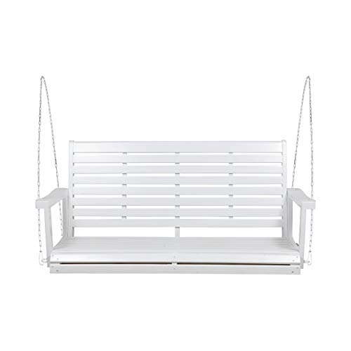Christopher Knight Home Beata Outdoor Acacia Wood Porch Swing, White