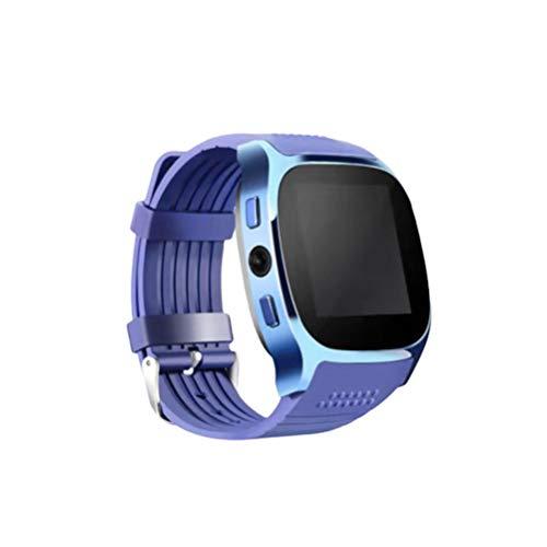 Hemobllo Fitness Tracker Smart Watch Unterstützung SIM Tf Karte Schlaf Überwachung Gesundheitsmonitor Schrittzähler für Sport Outdoor (Blau)