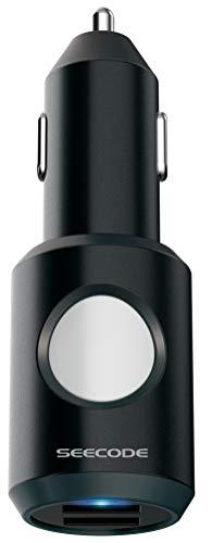 Seecode eCAll SOS Charger, Ladegerät, Smartphone, Auto, Bluetooth,USB, KFZ, Notrufsystem, Crash Sensor, mit App, Quick Charge, klein, kompakt, für jedes Fahrzeug geeignet - Schwarz