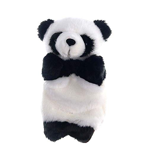 Lecez Juguetes de Peluche, Divertido Gigante Panda bebé narración de Cuentos de bebé Muñecas educativas Infantiles Mano Mano, y extremidades realistas, 25x19cm, Negro, Blanco