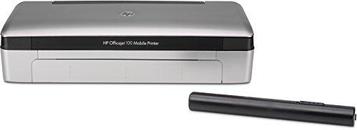 HP Officejet 100 (CN551A) A4 Mobiler Tintenstrahldrucker (4800 x 1200 dpi, USB, Bluetooth, SD-Karten Steckplatz) silber