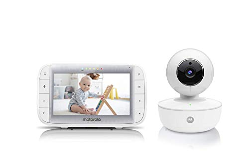 "Motorola Video Baby Monitor 5"" Color Parent Unit, Remote Pan/Tilt/Zoom, Portable Rechargeable Camera, Two-Way Audio, Night Vision, 5 Lullabies, MBP36XL"