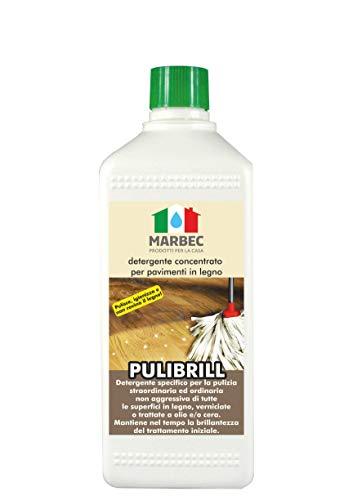 Marbec - PULIBRILL 1LT | Detergente igienizzante concentrato specifico per Pavimenti in Legno e parquet