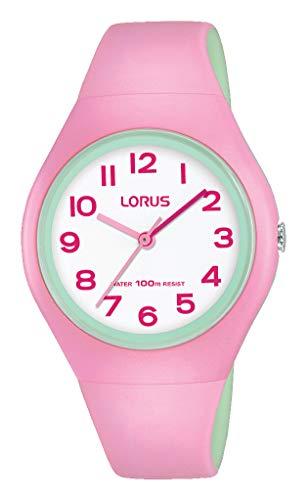 Lorus Mädchen Analog Quarz Uhr mit Silikon Armband RRX07GX9
