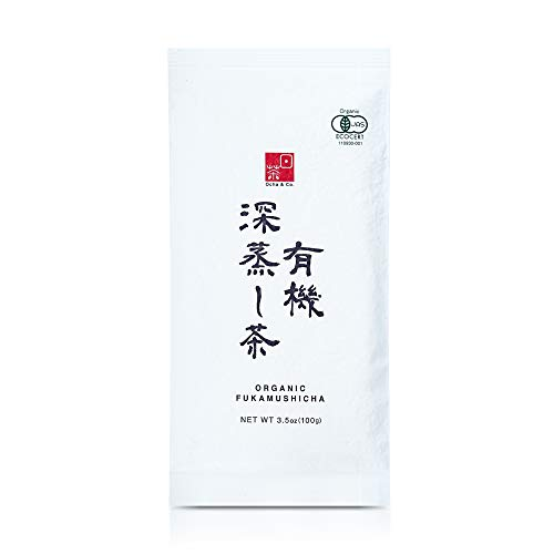 Ocha & Co. Premium Organic Japanese Fukamushi Deep-Steamed Sencha Loose Leaf Green Tea 100g 3.5oz.