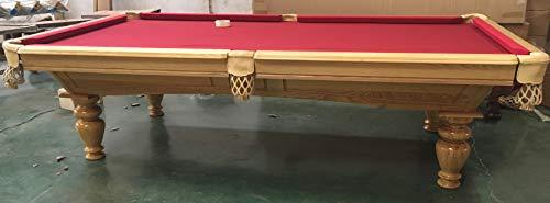 """9 Ft. Tunierpoolbillard Billardtisch Maß:283x156cm\"""" Crusader\"""" Pool Billard mit 3cm starken Schieferplatten Gestellfarbe: Natur Tuchfarbe: Rot"""