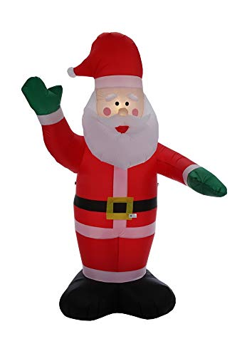 Homegear Christmas 6ft Inflatable Santa Claus - for Indoor/Outdoor Use with LED Lights …