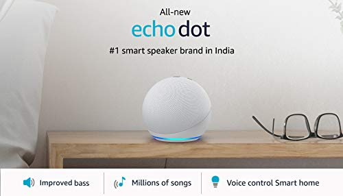 All-new Echo Dot (4th Gen) | Next generation smart speaker with improved bass and Alexa (White)