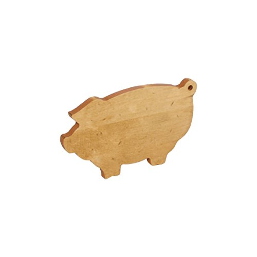 J.K. Adams Pig Novelty Serving Board, Mini, Maple