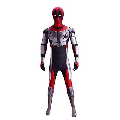 XNheadPS Spiderman Traje superhéroe Cosplay Medias cuántico Deadpool Onesies muellos muelles Body kidsits Adultos Vestido Elegante Vestido Fiesta Ropa,Ordinary- Kid XS 95~115cm
