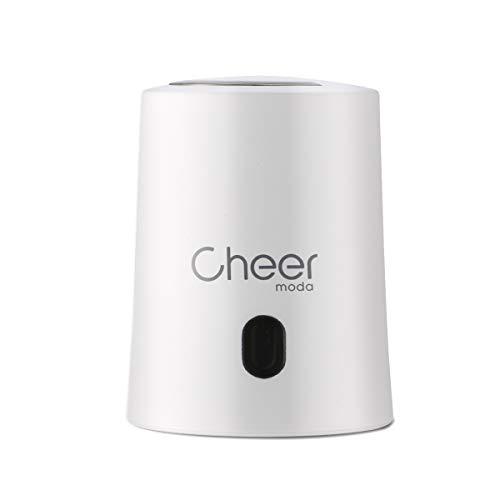 CHEER MODA Weinverschlüsse, Weinverschluss Weinsparvakuumpumpe und Weinflaschenverschluss mit Datumsmarkierung zum Entfernen von Luft und Vakuum - Weingeschenk für Weinliebhaber (Weiß)