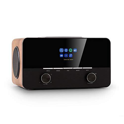 """AUNA Connect 150 Se - Radio Internet Smart 2.1, FM Dab/Dab + / PLL, Lecteur multimédia, Spotify Connect, Bluetooth, écran HCC: écran Couleur TFT 2,8"""", contrôle par l'application UNDOK - Noyer"""