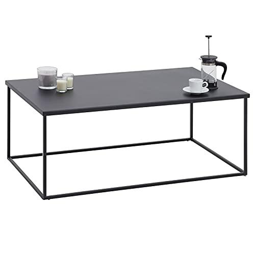 IDIMEX Couchtisch Kendo aus Metall, Wohnzimmertisch im Industrial Design, Beistelltisch Kaffeetisch in schwarz, Stubentisch