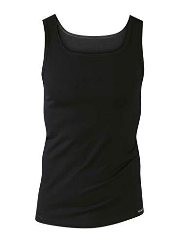 Calida Herren Athletic-Shirt Evolution Unterhemd, Schwarz, 56
