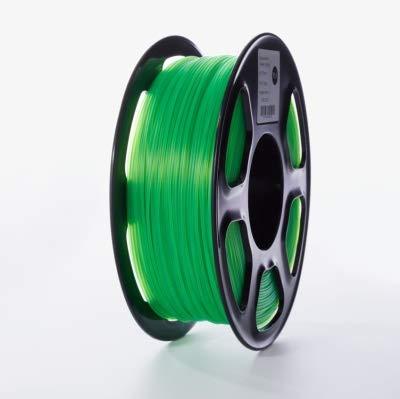 WANGYOUCAO 3D Printer PLA Filament 1.75mm for 3D Printers, 1kg(2.2lbs) +/- 0.02mm Transparent-Green Color 3D Printing Supplies (Color : Transparent Green)