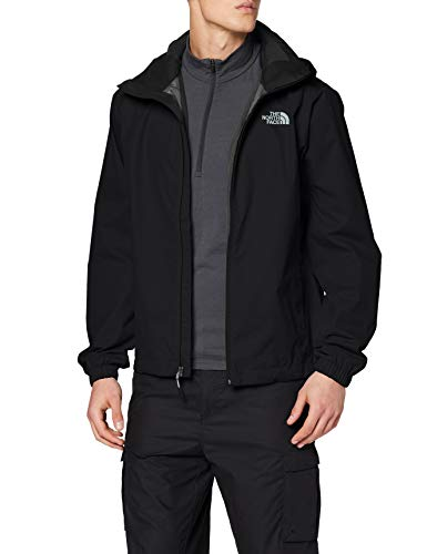 The North Face M Quest Jkt, Giacca Impermeabile Uomo con Cappuccio, Nero (TNF Black), L