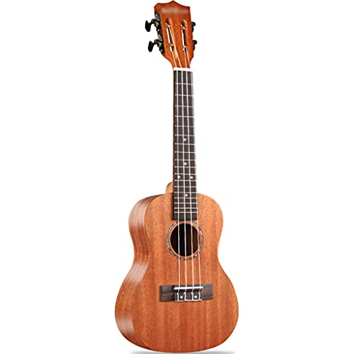 YHRJ Ukelele de Caoba de 23 Pulgadas para Adultos, Guitarra pequeña de 4 Cuerdas para conciertos, Instrumento de Cuerda portátil con Estuche (Color : C, Size : 23 Inches)