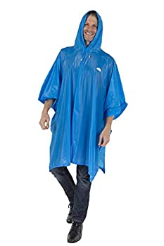 Wealers Reusable Rain Poncho Thick Breathable PVC Material Premium Quality Raincoat with Drawstring Hood  Blue