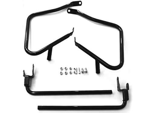 Gloss Black Rear Saddlebag Guards Support Kit for Harley Davidson Touring like Electra Street Glide Road King Ultra Classic Limited CVO 2014-2020 Saddle Bags Bag Guard Mount Saddlebags HD.Ref 90200788