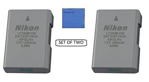 { 2 Pezzi } Nikon EN-EL14a Batteria al Lithium-Io per Nikon Df, D3100, D3200, D3300, D5100, D5200, D5300, D5500 Fotocamera Reflex COOLPIX P7000, P7100, P7700, P7800 Fotocamera Digitale (Sfuso Imballaggio)