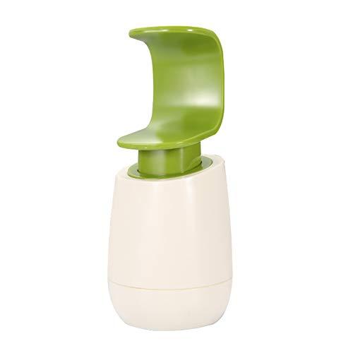 DM&FC Kunststoff Seifenspender Pumpe Flasche,Manuell Lotionspender Shampoo-Box Zu Küche Hotel,Badezimmer Duschgel Flüssigseifenspender Waschmittelflasche Weiß 350ml
