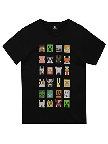 Camiseta para chicos de Minecraft Negro negro 9-10 Years