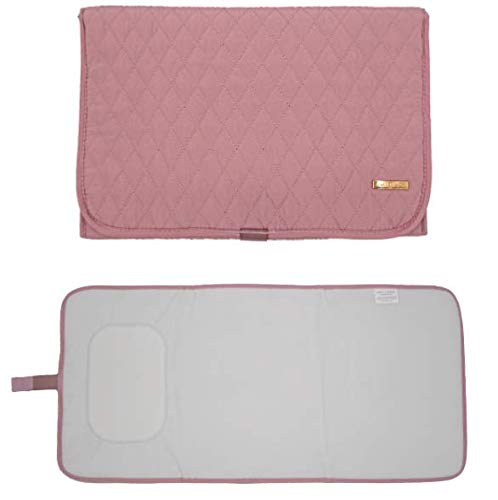 Portable Diaper Changing Pad Stylish & Chic by AMILLIARDI for Travel w/Baby, Infant & Newborn, Changing Mat Portable (Blush/Light Pink)