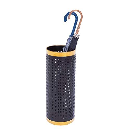 HTDZDX Paragüero Lados Tubulares De Metal Perforados, Soporte para Bastones - Seque con Más Rapidez Y Llantas De Acero Inoxidable (Color : D)