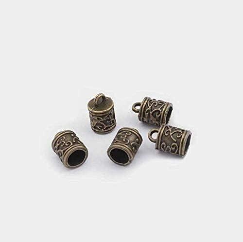 LiuliuBull 10Pcs Silver Popularity Color Metal Industry No. 1 End Findin Jewelry Bead Caps