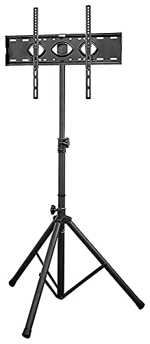 TabloKanvas TELEVISOR Soporte de trípode 32'-65' Plana y Curva dtv Altura de inclinación giratoria Ajustable con Soporte de Soporte TELEVISOR Pararse (Color : Black)
