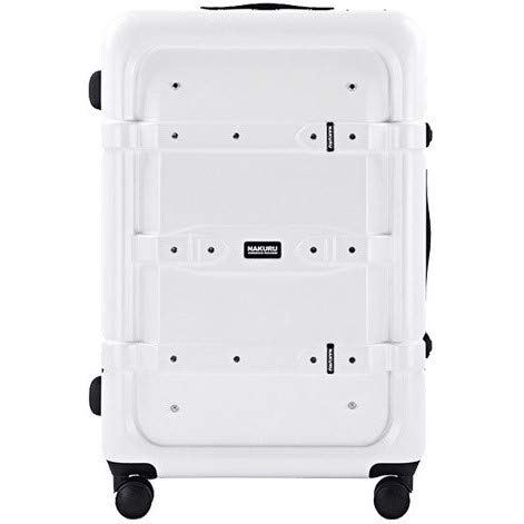 [2141]スーツケーストランクケース 大型 強化アルミフレーム 大容量ボディ 計8輪 TSA ダイヤルロック トランク キャリーケース キャリーバッグ 旅行用カバン ダブルキャスター (L, ホワイト)