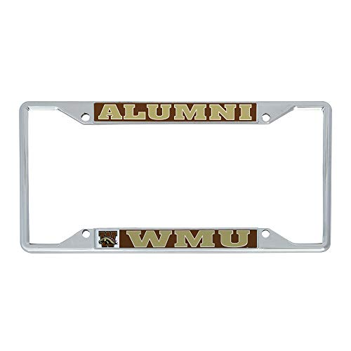 Desert Cactus Western Michigan University WMU Broncos NCAA Metal License Plate Frame for Front Back of Car Officially Licensed (Alumni)