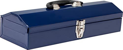 TCE ATB102U Torin 16' Hip Roof Style Portable Steel Tool Box with Metal Latch Closure, Blue