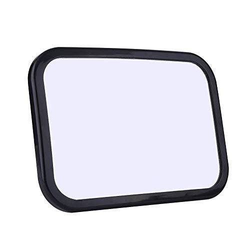 Espejo de coche para bebé, asiento de coche espejo retrovisor grande para asiento trasero del coche, espejos retrovisores cuidado de niños pequeños, negro, 35 x 20 x 4 cm