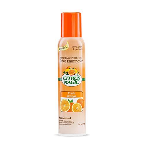Citrus Magic Natural Odor Eliminating Air Freshener Spray, Fresh Orange, 3 Ounce