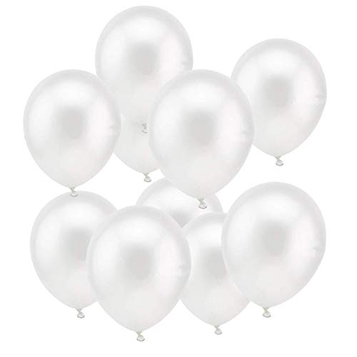 O-Kinee Globos Blancos,100 Piezas Globos Helio Latex Perla Globos Ø 30 cm para Bodas Aniversario,Niña Bautizos Comunion Baby Shower,1 Año Cumpleaños Fiesta Arco Decoracion