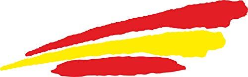 INDIGOS UG - Pegatina - para Coche - JDM - Troquelada - Coche - Bandera España - España - 3 Rayas - 110x30 mm - Ventana Trasera - para Ventana Trasera Barco Coche Tuning camión