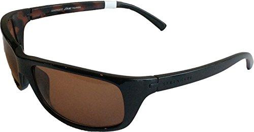 Serengeti Bormio 8167 Sunglasses, Shiny Black Tortoise, Polarized Drivers Lens