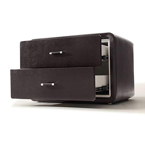 ZSIF Schubladenschrank Nachttisch Kirschbaummöbel Gepolsterter Nachttisch mit 2 Schubladen