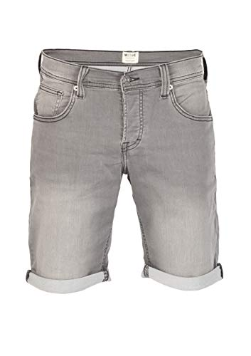 MUSTANG Herren Jeans Shorts Chicago Real X Kurze Hose Sommer Bermuda Stretch Sweathose Baumwolle Grau Blau w30 - w42, Größe:W 40, Farbe:Light Grey Denim (311)