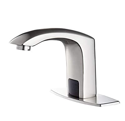 HHOOMMEE Automatic Touchless Sensor Faucet Motion Activated Bathroom Hands Free Tap (Nickle)