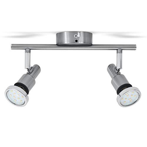 B.K.Licht LED Deckenleuchte Bad-Deckenlampe Badezimmerleuchte Badezimmerlampe Deckenstrahler inkl. 2 x 5W Leuchtmittel je 400lm IP44