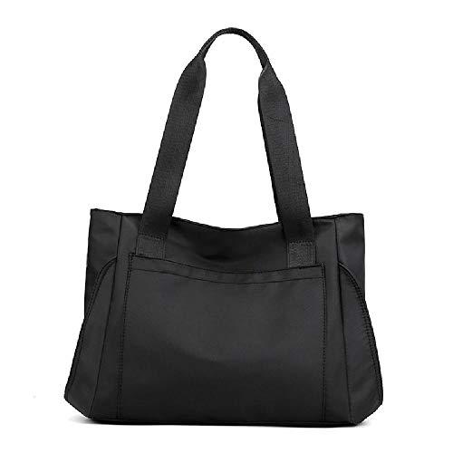 Damen Commuter Canvas Tasche Große Tasche Vielseitig Einfach Große Kapazität Tote Schultertasche, Schwarz - Schwarz  - Größe: Einheitsgröße
